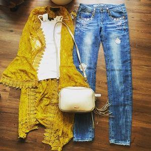 Machine Jeans 👖 Size 27 💛 Lace Skinny Jeans